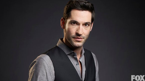 Tom Ellis as Lucifer Morningstar.